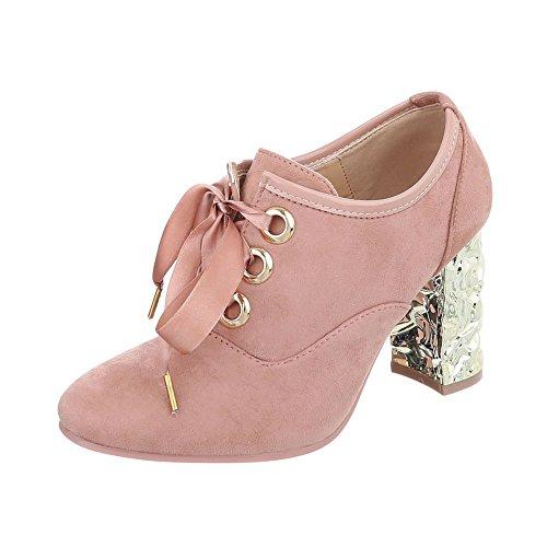 Chaussures Ital Heel femme Kitten mode Ankle Bottes Design Rose Baskets rRrxwH0g