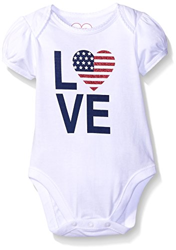 The Children's Place Baby America Talker, White, 0-3 Months (America Girls Clothes compare prices)