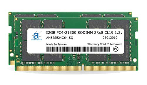 Adamanta 64GB (2x32GB) Memory Upgrade for 2019 Apple iMac 27