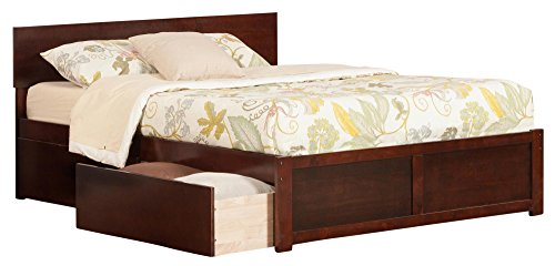 Atlantic Furniture AR8142114 Orlando Platform 2 Urban Bed Drawers, Queen, Walnut, ()