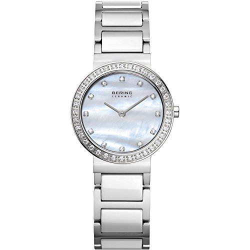BERING Time 10729-704 Womens Ceramic Collection Watch with Stainless steel Band and scratch resistant sapphire crystal. Designed in Denmark.