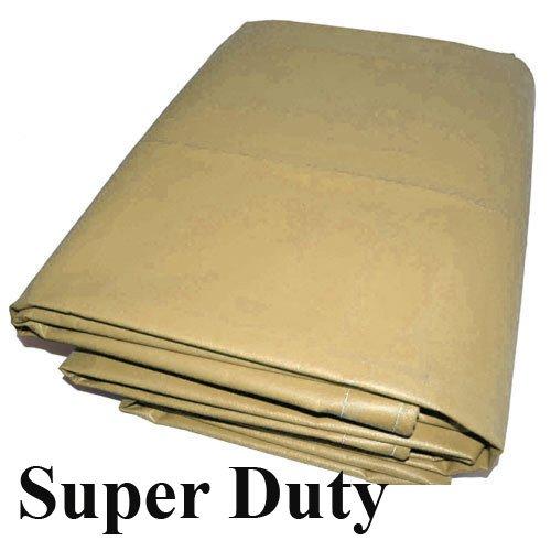 - 18 Mil 10x20 Canopy Replacement Top PVC Vinyl Super Duty Valance Tarp (Beige)