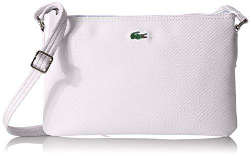 Lacoste L.12.12 Concept Flat Crossover Bag, NF1887PO, 001 Bright White