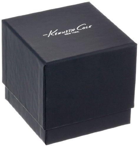 Kenneth Cole New York Men's Quartz Stainless Steel Case Leather Strap Black,(Model:KC8016)