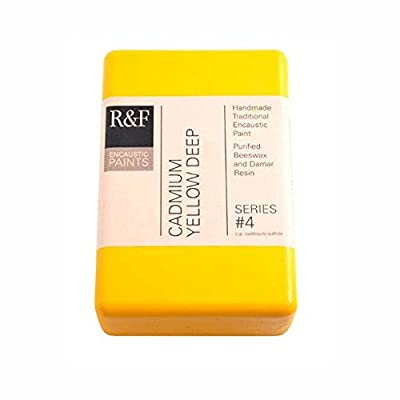 R&F Encaustic 333ml Paint, Cadmium Yellow Deep