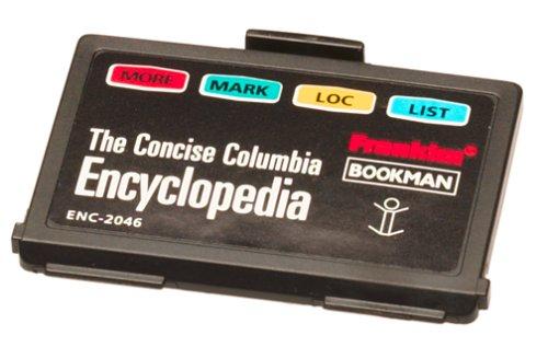 Enc Card - Franklin ENC-2046 Concise Columbia Encyclopedia Bookman Card
