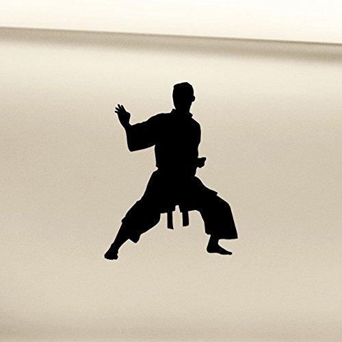 Karate Vinyl Decal Laptop Car Truck Bumper Window Sticker - Black