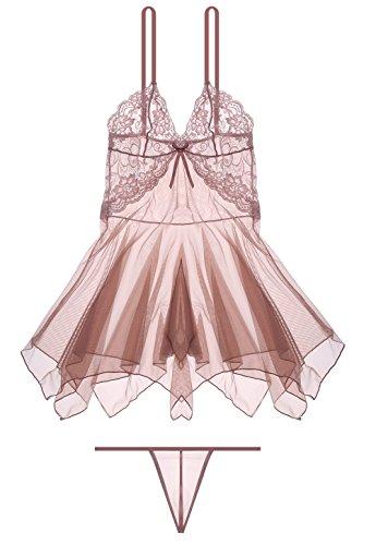 7939295e025 Wealurre Women s Pretty Pajama Sexy Lingerie Sling Transparent ...