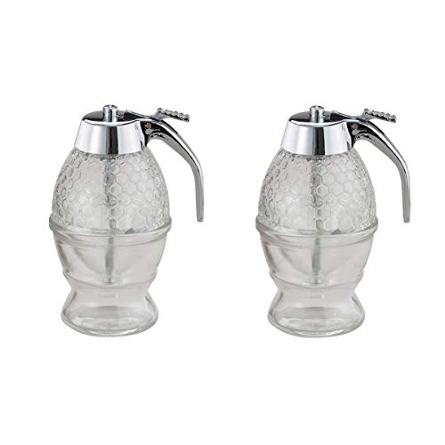 - Mrs. Anderson's Clear Glass Honey and Syrup Honeycomb Dispenser, Set of 2