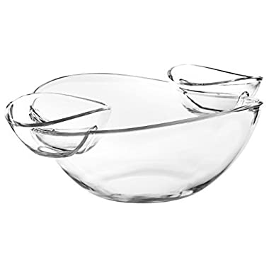 Chef's Star Chip and Dip Plate, Appetizer Platter - Great for Chips, Dips, Salad and Other Snack Foods