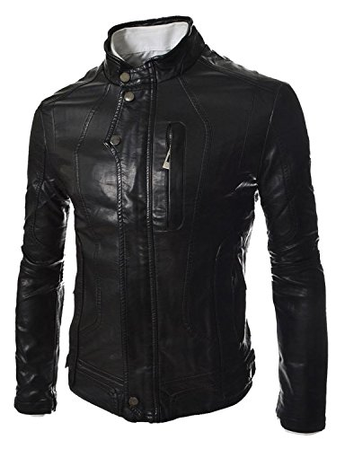 Laverapelle Men's Split Tan Genuine Cowhide Leather Jacket - 1510630 - Custom Size (Tan Leather Split Genuine)