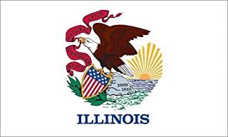 product image for Valley Forge Flag Made in America 3' x 5' Nylon Illinois State Flag