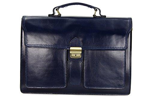 x x case x à p choix au 14 unisexe ® main 30 cuir couleur 40 Bleu étui Bleu foncé h en l sac cm Belli attaché x design «b» U8nna