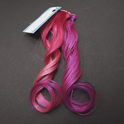 - 8 inch Pastel Pink Raspberry Violet Purple Pink Ombre Highlights Clip In Remy Rainbow Human Hair Extensions Unicorn Mermaid Hair Styles