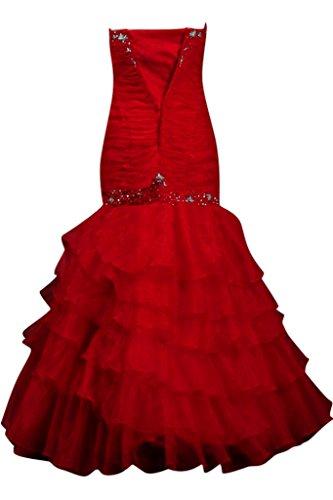 TOSKANA BRAUT -  Vestito  - Senza spalline - Donna rosso 42