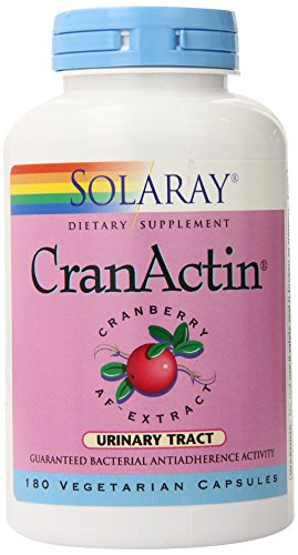 Solaray Cranactin Cranberry AF Extract Capsules, 400 mg, 180 Count