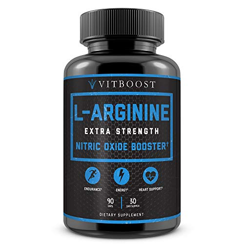 (Extra Strength L Arginine 1500mg - Nitric Oxide Supplements for Stamina, Muscle, Vascularity & Energy - Powerful NO Booster with L-Arginine, L-Citrulline & Essential Amino Acids)