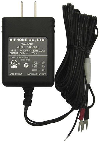 - Aiphone Corporation SKK-620C 6V DC Power Supply for AT406, C123L/A, C123LW, LEM1, LEM3, or TAR3, Fire-Retardant, ABS Plastic Construction