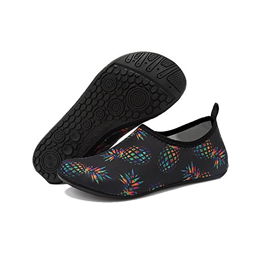 Quick Water On Men's Drying Kids Women's Slip Aqua Shoes for Water Barefoot BlanKey Sport Pineapple Exercises WpqYwU7p