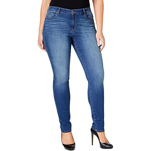 Style & Co. Womens Plus Whisker Wash Classic Fit Skinny Jeans Blue 24W