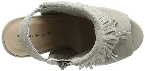 New Look Scruffy - Tacones Mujer Gris - Grey (04/Grey)