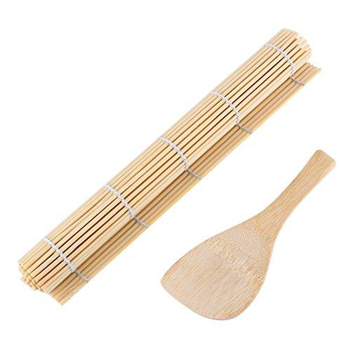 Fabricación de Herramientas de Sushi, Rollos de Sushi de Bambú y Cucharas de Arroz