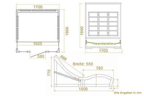 infrarotkabine w rmekabine billund fl chenstrahler hemlockholz infrarotsauna mit 2. Black Bedroom Furniture Sets. Home Design Ideas