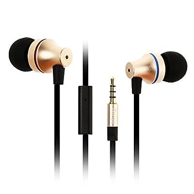 In-Ear Earphones Headphones, Gaoye G1000 3.5mm Jack HD Stereo Wired Earphones with Mic Gold-plated Noise Cancelling Sweatproof Headphones Stereo Earbuds 1.2M (G1)