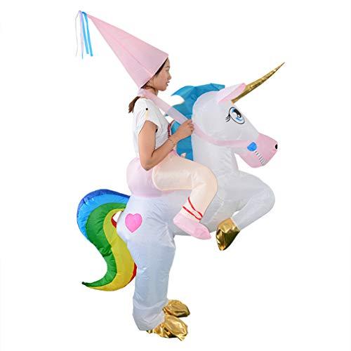 Riding A Unicorn Costumes - HHARTS Unicorn Inflatable Costume Blow Up