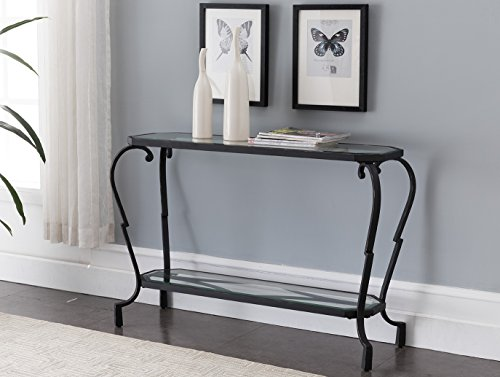 - Kings Brand Furniture - Verona Metal with Glass Occasional Entryway Console Sofa Table