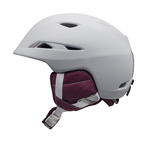 Giro Women's Lure Snow Helmet (Matte White/Aubergine, Medium), Outdoor Stuffs