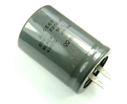 F 63v Radial Electrolytic Capacitor Made in Japan CE62 (63v Radial Electrolytic Capacitor)