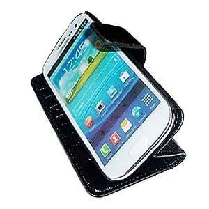 MOM Samsung Mobile Phone Holster S3/I9300 Crocodile Left Turn Stent Holster , Black