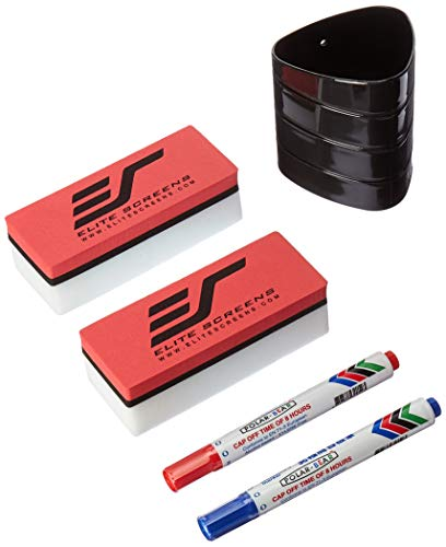 - Elite Screens Insta-DE, DEM Screen & WhiteBoardScreen Universal Pens and Eraser Set
