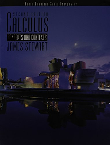 Calculus Concepts and Contexts 2nd Edition Supplement for North Carolina State University