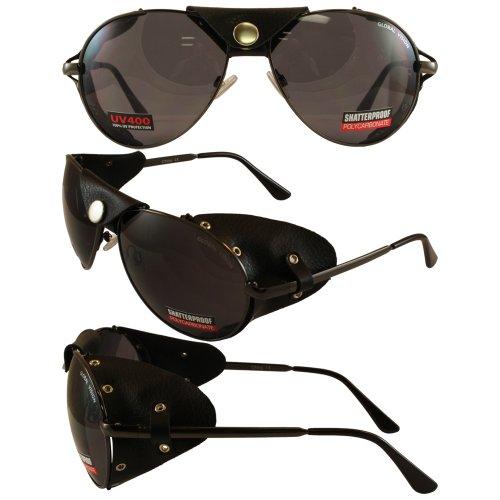 Global Vision Aviator 3 Motorcycle Sunglasses Gun Metal Frames Smoke - Aviator For Motorcycles Sunglasses