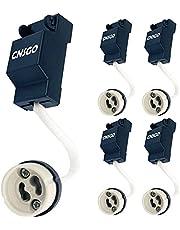 GU10 lamphouder CNSGO keramische fitting, gebruikt voor GU10 led en halogeen gloeilamp, met hoogwaardige siliconendraad, siliconen beschermslang, tweelaagse isolatie, met aansluitadapter, 5 stuks