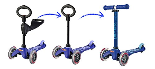 Mini 3in1 Deluxe | 3-stage ride-on Micro scooter toddler toys for ages 12 months to 5 years | Blue