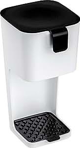 Koziol Unplugged - Juego de cafetera y taza con tapa, color blanco y negro