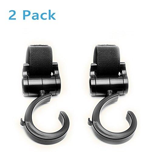 Baby Stroller Hooks,Car Seat Headrest Hooks,Multi-function Hooks to Hang Bag,Groceries,Accessories (2 Pack)