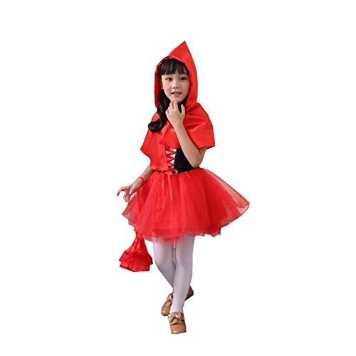 Harry Shops Halloween Little Red Riding Hood Kids Cosplay Costume-Large (Little Red Riding Hood Cosplay)