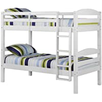 Convertible Twin Twin Solid Wood Construction Bunk Bed or 2 Single Twin Beds , White