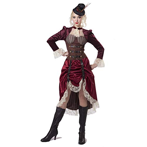 Steampunk Madame Victorian Saloon Time Travel Costume (Large)]()
