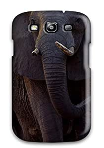 Awesome Case Cover/galaxy S3 Defender Case Cover(matriarch Of A Herd Of African Elephants Walks Ahead Of The Herd Across Floodplains At Mombo Camp Chief 8217s Island Moremi Game Reserve Botswana)