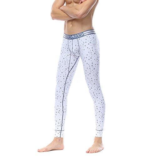 Men's Underpants Thermal Low Rise Long Johns Pants ()