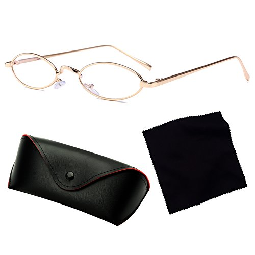 Gafas de Mujeres Sol UV400 C9 Metal Ovales Retro Pequeñas Gafas juqilu Hombres de YdOxwXqId