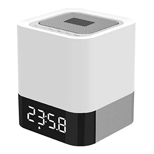 Household Bluetooth Speaker MUSKY DY 28 LEDライト3Dステレオ音楽ミニブルートゥーススピーカー、サポート時計付きアラーム/AUX、iPhone、ギャラクシー、ソニー、レノボ、HTC、Huawei、LG、Xiaomi、その他のスマートフォン、サポートAUX LINE-INおよびTFカードの再生 with Hands-free Call Function