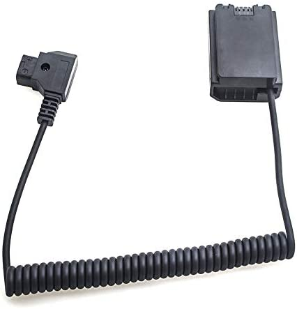 Black Power Adapter V-Mount Anton Bauer D-Tap NP-FZ100 Battery Coupler Spring Cable