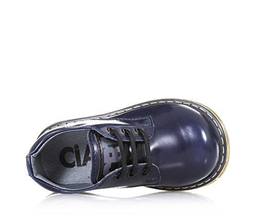 CIAO BIMBI - Blauer Halbschuh mit Schnürsenkel aus Leder, in jedem Detail gepflegt, Stil, Qualität und Sicherheit kombinierend, mit sichtbaren Nähten, Jungen Blau