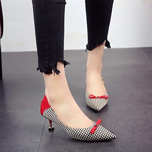 tacchi scarpe In FLYRCX alti partito le donne black sottolineato raffinato ha Europeo del calzatura stile elegante e fashion scarpe singola wPdTPqA7